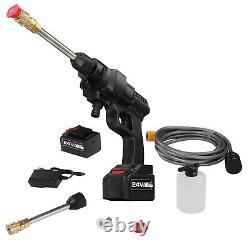 24v Portable Cordless Car Wash Hose Set High Pressure Watering Bus Gun Spray