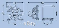 (2) Pompe À Eau À Diaphragme Everflo 12 Volts Et 7,0 Gal / Min. Pulvérisateurs De Pelouse De 60 Psi Bateaux Vr