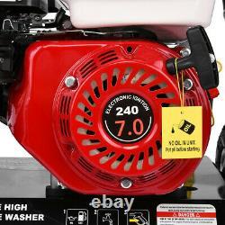 3000psi 3600rpm Gaz Alimenté À L'eau Froide Laveuse À Haute Pression 7hp 215cc 4-stroke