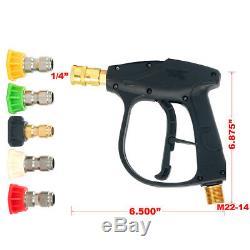 4350psi 300bar Laveuse À Haute Pression Pistolet + 5 Buse De Laveuse À Eau Électrique De Lavage Gmp 3.0