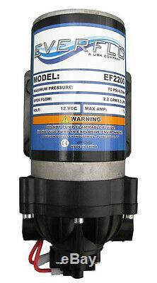 Everflo 12 Volt 2,2 Gpm Pompe À Membrane De Transfert D'eau Pour Le Mobilhome / Remorques