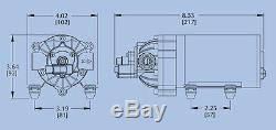 Everflo 12 Volt 2,2 Gpm Pompe À Membrane Eau 70 Psi Pelouse Pulvérisateurs, Bateaux, De Rv