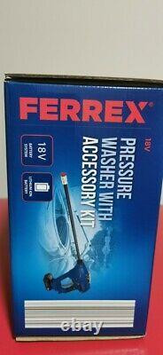 Ferrex 18v Laveuse À Pression Sans Fil 320psi/22bar Débit D'eau 120l/h Nouveau
