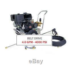 Hotsy 4000 Psi 4,0 Gpm Gaz Moteur Ceinture (eau Froide Pression Laveuse)