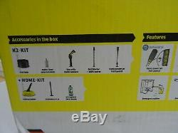 Karcher K2 Contrôle Accueil Laveuse À Pression 240v + T150 Cleaner Patio