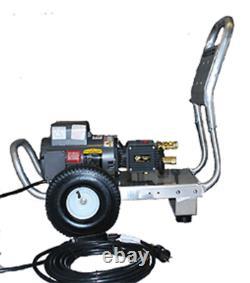 Lave-vaisselle Électrique À Pression D'eau Froide 3,5gpm 2000psi 240v Alum Frame 10 Pneus