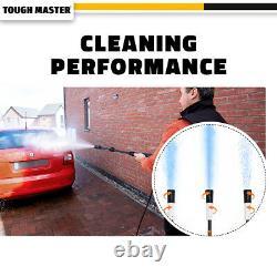 Laveuse À Pression Électrique 2320 Psi/160 Bar Eau Haute Puissance Jet Wash Patio Car