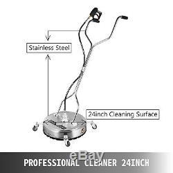 Nettoyant Pour Surface Plane 24 En Acier Inoxydable Chaud Froid Pression D'eau Laveuse Roues