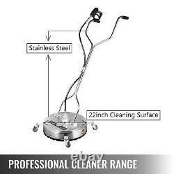 Nettoyeur De Surface Plat 22 Roues De Lave-eau Froide Chaude En Acier Inoxydable