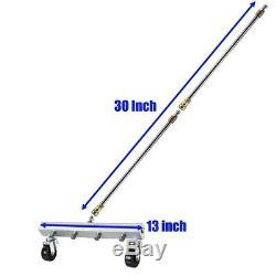 Nettoyeur Haute Pression Eau Broom, 13 Pouces Laveuse Avec 2 Pièces Cleaner 15 D