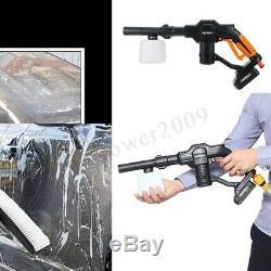 Nettoyeur Haute Pression Sans Fil 130psi 18v Pro Pompe De Buse De Tuyau D'eau Pour Nettoyeur À Rondelle