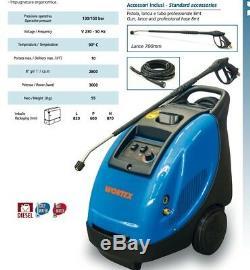 Nettoyeur Pression Diesel Wortex Vapo 10/130 Eau Chaude 90 ° C 3000w 2800 Tours / Min