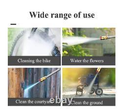 Pistolet D'eau De Nettoyage À Haute Pression Domestique, 3 Types De Modes De Sortie D'eau