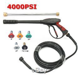 Pistolet Pulvérisateur Pour Laveuse À Eau Haute Pression 4000psi Et Tuyau De 8 M + Rallonge + 5 Embouts