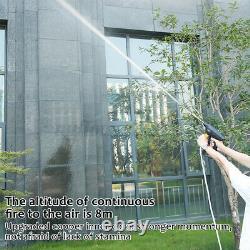 Pistolet Sans Fil De Laveuse De Voiture De Pression Et Buse De Tuyau D'arrosage Extérieur+2 Batterie