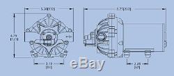 Pompe À Eau À Diaphragme Everflo 12 Volts, 4,0 Gal / Min. Pulvérisateurs De Pelouse, Bateaux, Vr