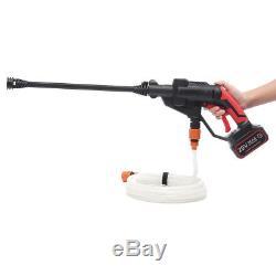 Pompe De Buse De Tuyau De L'eau De Pistolet De Nettoyeur De Pression Sans Fil Et Batterie Li-ion De 20v