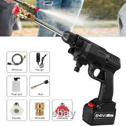 Portable 24v Sans Fil Tuyau De Lavage De Voiture Ensemble Haute Pression Eau Pistolet Pompe