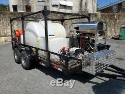 Pression D'eau Chaude Laveuse / Lavage Doux Sur Remorque-8gpm, 4000psi-honda Gx690