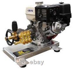 Pression Skid Mont D'eau Froide Laveuse 4gpm 3500 Psi Honda Gx390 Gas Engine
