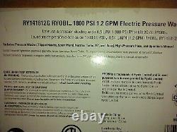 Ryobi 1800 Psi 1,2 Gpm Eau Froide Lave-pression Électrique Léger Compact