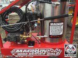 Sale Magnum 4000 Psi Nettoyeur Haute Pression À Eau Chaude, 15 HP Unités De Gaz