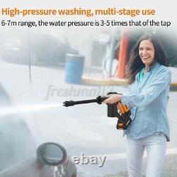 Spray À Eau Haute Pression Sans Fil Pulvérisateur À Lave-linge Électrique 15000mah