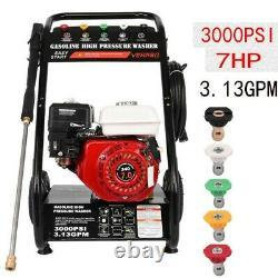 Waspper 3000psi 2.8gpm 215cc 4-stroke Alimentation À Gaz Eau Froide Lave-linge Haute Pression