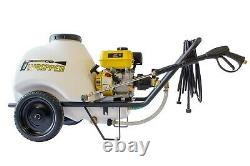 Waspper 3400 Psi 3 Gpm Laveuse De Pression Portative Avec Réservoir D'eau De 30 Gal.