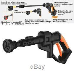 Ws-g500 20v Sans Fil Nettoyeur Haute Pression Laveur De Voiture Pistolet Tuyau D'eau Vaporisateur +